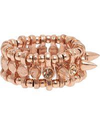 Philippe Audibert Amelia Spike Ring with Swarovski pink - Lyst