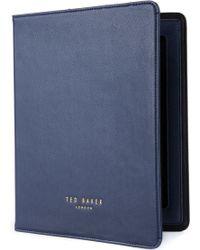 Ted Baker Verdean Cross Grain Tablet Case - Blue
