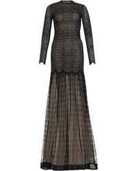 Alessandra Rich Full Skirt Lace Gown - Lyst