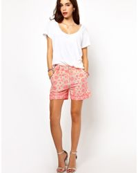 ASOS Collection Asos Shorts with Fluro Embroidery - Lyst