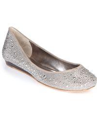 BCBGMAXAZRIA Misha Studded Ballet Flats - Metallic