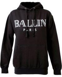 Brian Lichtenberg Unisex Ballin Cotton Hooded Sweatshirt - Black