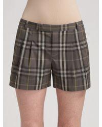 Burberry Brit | Cotton Check Shorts | Lyst