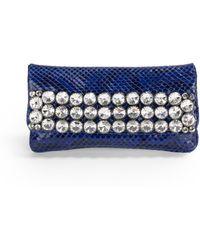 Clara Kasavina - Multirow Swarovski Crystal Blue Python Clutch - Lyst