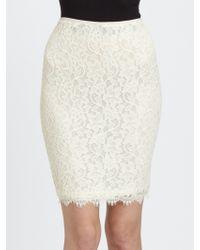 Diane von Furstenberg Scotia Lace Pencil Skirt - Lyst