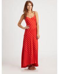 Ella Moss Waldo Striped Maxi Dress - Red