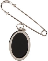 Jil Sander Navy Brooches - Black