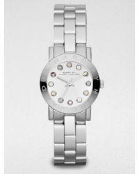 Marc By Marc Jacobs Amy Glitz Stainless Steel Bracelet Watch - Lyst