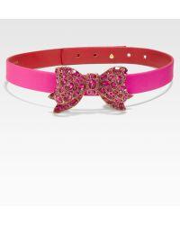 Oscar de la Renta Jeweled Bow Belt - Lyst