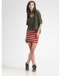 Pleasure Doing Business | Striped Elastic Mini Skirt | Lyst