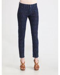 Ralph Lauren Blue Label - Roslyn Skinny Cropped Jeans - Lyst
