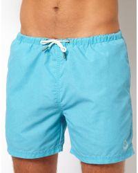 River Island Sun Sulphur Swim Shorts - Blue