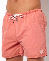 River Island Sun Sulphur Swim Shorts - Pink