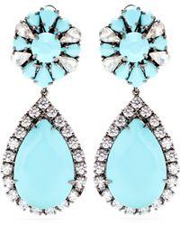 Shourouk Roma Embellished Earrings - Blue