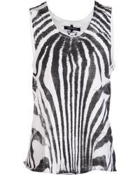 Sons Of Heroes Zebra Stripe Tank - Lyst