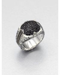 Stephen Webster Sterling Silver Sapphire Ring - Metallic