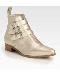 Tabitha Simmons Early Metallic Leather Ankle Boots - Lyst