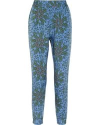 Tucker - Paisleyprint Stretch silk Tapered Trousers - Lyst