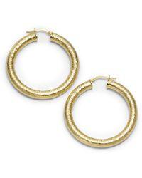 1AR By Unoaerre - Venetian Textured Hoop Earrings - Lyst