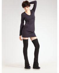 Alexander Wang Merino Wool Leg Warmers - Gray