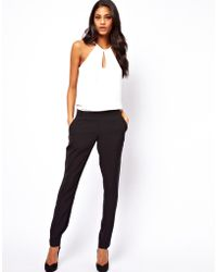 ASOS -  Jumpsuit with Halter - Lyst
