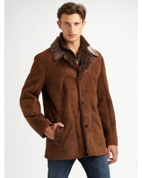 Cole Haan Shearling Jacket - Lyst