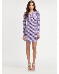 Diane von Furstenberg Reina Silk Jersey Dress - Lyst