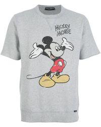 Dolce & Gabbana Mickey Mouse Print T-shirt - Lyst