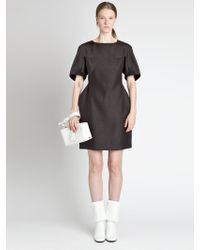 Jil Sander Silk Dress - Lyst