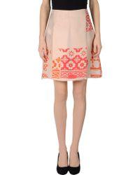 Jil Sander Navy Knee Length Skirts - Lyst