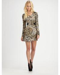 Madison Marcus - Sequin Silk Long Sleeve Dress - Lyst