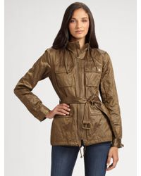 MICHAEL Michael Kors Hooded Army Jacket - Lyst