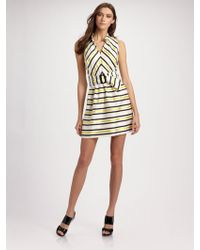 Milly Bianca Belted Dress - Lyst