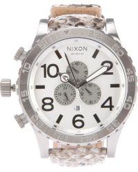 Nixon The 5130 Chrono Leather Watch - Lyst