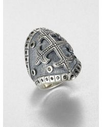 Scott Kay Sterling Silver Cross Ring - Metallic