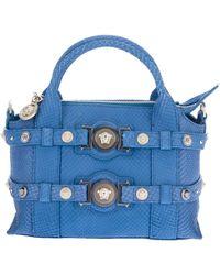 Versace Mini Python Print Handbag - Lyst