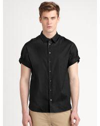 3.1 Phillip Lim Roll-Sleeve Button-Down Shirt - Lyst
