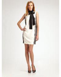 D&G Silk Crepedechine Necktie Mini Dress - Lyst
