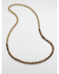 FLorian - Beaded Chain Link Necklace - Lyst