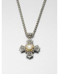 Konstantino Motherofpearl 18k Gold Sterling Silver Cross Pendant Necklace - Metallic