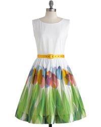 ModCloth Say Its The Season Dress multicolor - Lyst