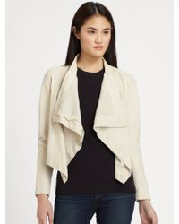 Pjk Patterson J. Kincaid Luman Draped Leather Jacket - Natural