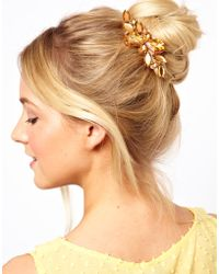 ASOS - Stone Hair Brooch - Lyst