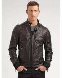 D&G Leather Jacket - Lyst