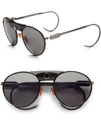 Proenza Schouler Round Metal Acetate Sunglassesgunmetal Black black - Lyst
