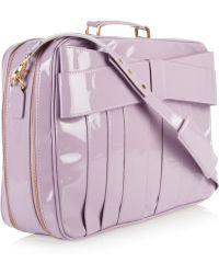 Z Spoke by Zac Posen Patentleather Weekend Bag - Purple
