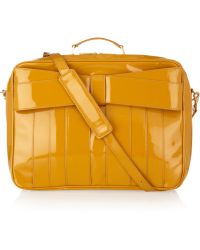 Z Spoke by Zac Posen Patentleather Weekend Bag - Yellow