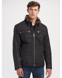 Andrew Marc Cafe Select Leather Jacket - Lyst