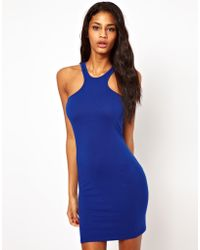 ASOS Collection | Mini Bodycon Dress with Racer Neck | Lyst