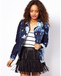 ASOS Collection | Asos Denim Western Jacket in Extreme Marble Wash | Lyst